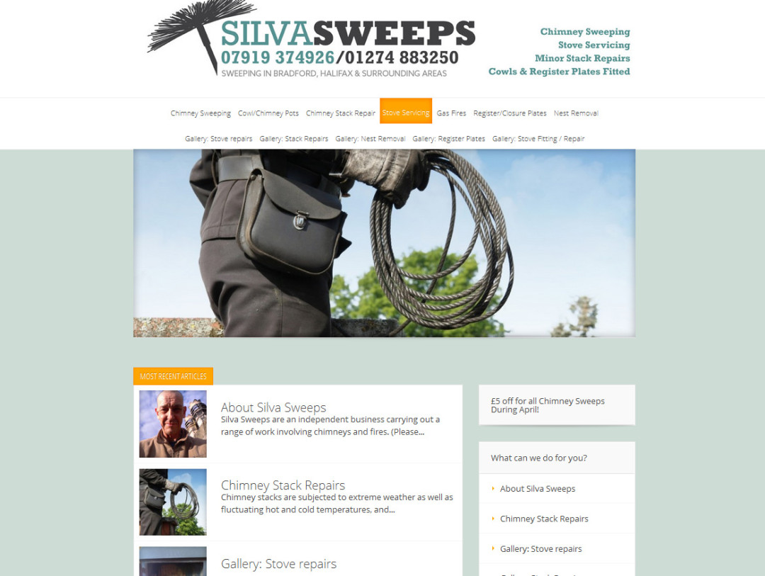 Silva-Sweeps CMS Website