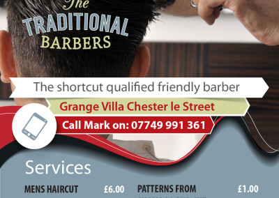 Barbers A5 Leaflet design – startup company